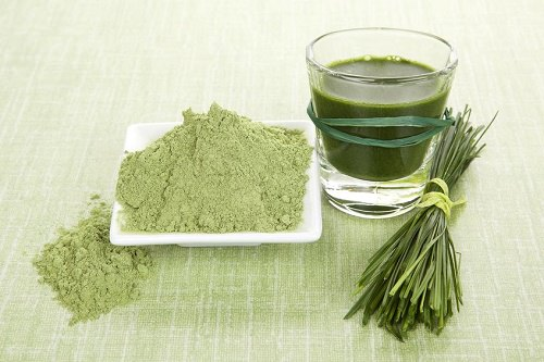 Finally, cleanse with barley grass
