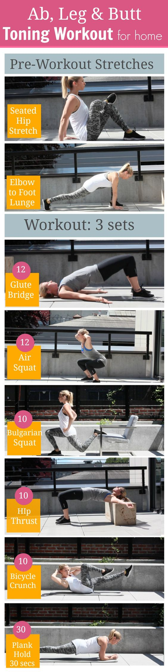 Ab, Leg and Butt Toning Workout